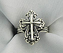 WG2074 - Sterling Silver Ring, Filigree Cross