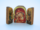 GB1 - Greek Icon, Small Triptych, 2 in.