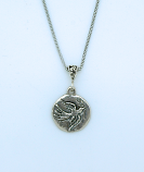 SSN67 - Sterling Silver Holy Spirit on Sterling Silver Chain