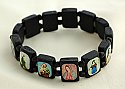 BVP14 - Brazilian Wood Saints Bracelet, Black