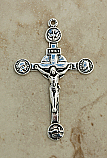 SSC33 - Sterling Silver Crucifix, 19th Century, 2 3/4 in.