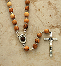 HLROWS - Olive Wood Rosary with Soil from Jerusalem