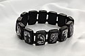 BVP18 - Brazilian Wood Bracelet, Black Wood, Black & White Pictures, Extra Large Fit