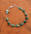 SSB9 - Sterling Silver Turquoise Nugget Bracelet