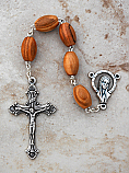 DR50 - Italian Olive Wood Rosary, Extra Large 1/2 in. Beads