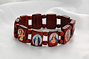 BP05 - Brazilian Wood Saints Bracelet, Brown