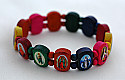 BP06MUL - Brazilian Wood Bracelet, Multi-Colors